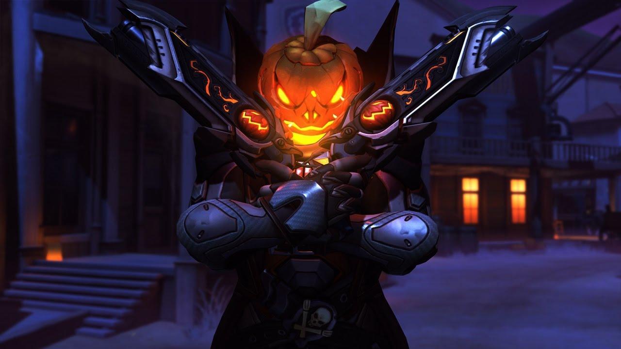 Reaper- Pumpkin - Overwatch Halloween Legendary Skin Showcase ...