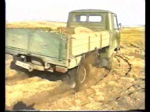 Колёсно-шагающий УАЗ на песке
