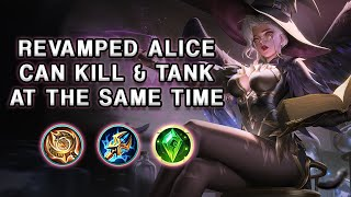 WOW! THE NEW REVAMPED ALICE CAN SUSTAIN A LOT MORE | Mobile Legends