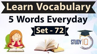 Daily Vocabulary - Learn 5 Important English Words in Hindi every day - Set 72 Soporific