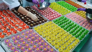 Homemade Japanese confectionery made in large quantities / Korean food factory