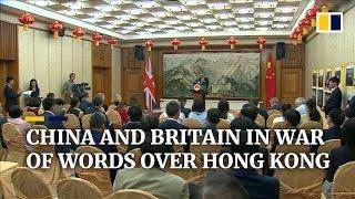 China and Britain in war of words over Hong Kong