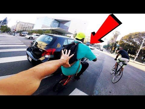 RIDING BMX IN LA COMPTON DOWNTOWN STREET (GANG ZONE BMX)