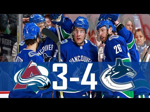 Canucks vs Avalanche | Highlights | Jan. 30, 2018 [HD]