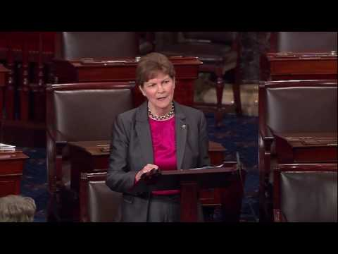 Shaheen on Senate Floor as Her Sexual Assault Survivors' Rights Act Heads to President (High Res)