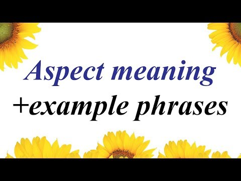 Aspect meaning in Urdu | ASPECT in Hindi | English phrases translate into Urdu