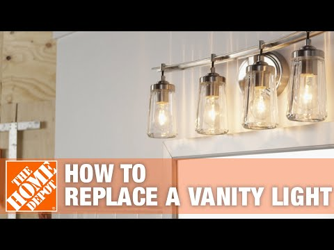 Bathroom Lighting | How to Replace a Vanity Light