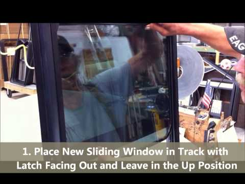 How to Replace a Sliding Glass in a Motion Window