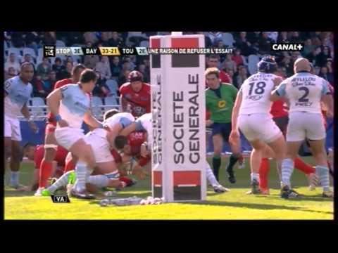 Top 14_Bayonne vs Toulon_essai Tillous Borde