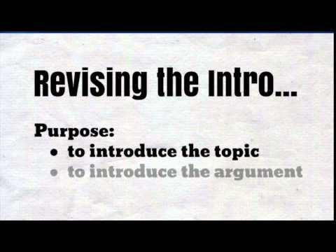 Revising Your Five Paragraph Essay - YouTube