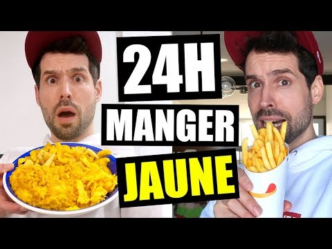 JE MANGE QUE LA NOURRITURE JAUNE PENDANT 24H - HUBY