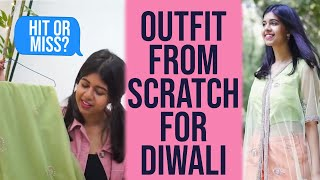 DIY: Outfit from Scratch for DIWALI | Sejal Kumar