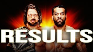 WWE CLASH OF CHAMPIONS 2017 RESULTS