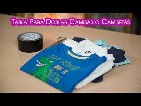 Como hacer una tabla para doblar camisas o camisetas youtube - Tabla para doblar camisetas ...