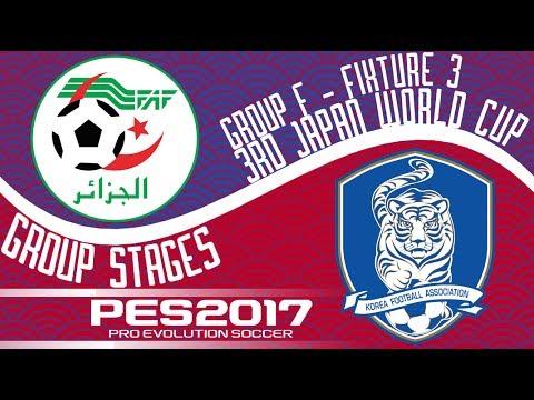 Algeria vs. South Korea - 3rd Japan World Cup - Fixture 3 - PES2017 - 60fps