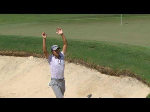 Collin Morikawa's incredible bunker shot at TOUR Championship