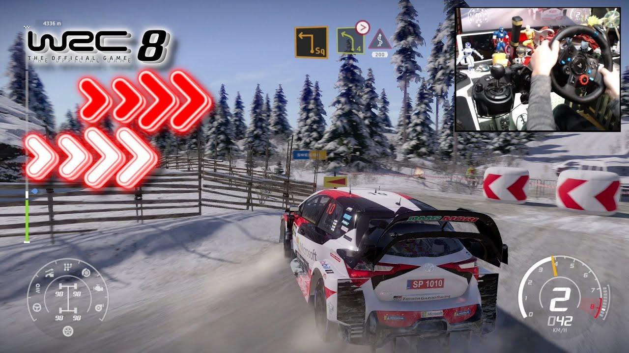 Download WRC 8 Toyota Yaris WRC Rally Sweden / Logitech G29
