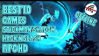 BEST 10 GAMES Stickman/Shadow Hack'N Slash RPG Offline For Android screenshot 2