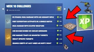 FORTNITE WEEK 10 CHALLENGES! Use Mounted Turrets, Traps, Grenades