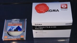 Sigma 17-70 mm Contemporary Unboxing IFFI packt aus