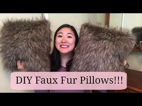 DIY Faux Fur Pillows!!!