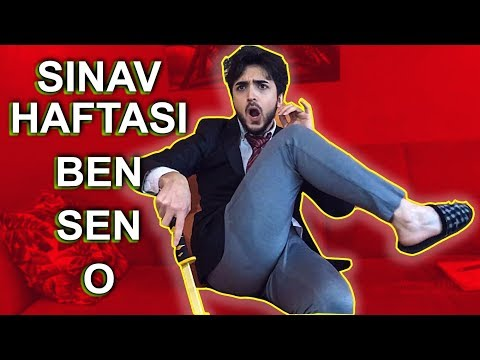 Sınav Haftası Öğrenci Tipi / KOMİK VİZE HAFTASI