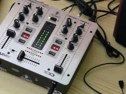 Behringer VMX100 Mixer with GENIUS SP-HF2.0 3000A 80W speakers