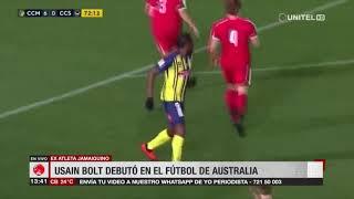 Usain Bolt debutó con el Club Central Coast Mariners