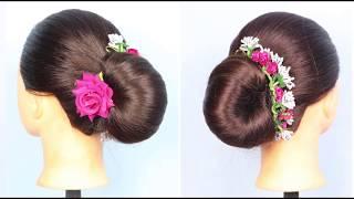Easy french Bun Hairstyle Using Magic Lock   prom hairstyles   braided hairstyles   bridal hairstyle