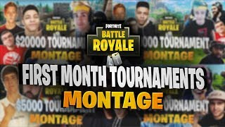 First Four $20,000 YouTuber/Streamer Friday Fortnite Tournaments Montage