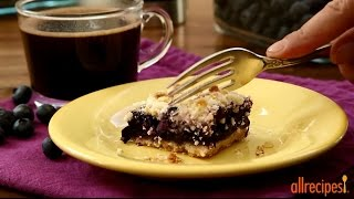 Dessert Recipes - How to Make Blueberry Crumb Bars