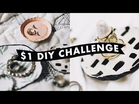 $1 DIY CHALLENGE - Trinket Trays + Jewelry Organizer (Anthropologie Inspired) // Lone Fox