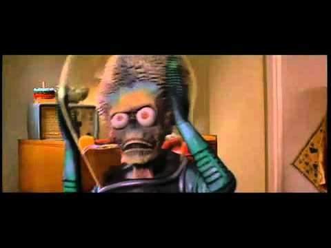 MARS ATTACKS-Spontaneous Combustion scene