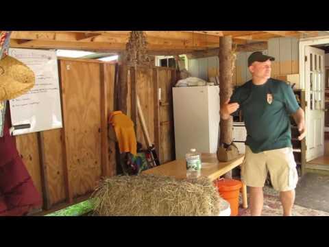 Tour of Maine Primitive Skills School Facilities with Jim Kane