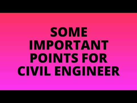 Important Points For Civil Engineer