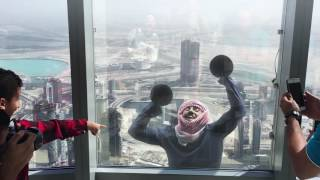 MAN CLIMBING BURJ KHALIFA WITH PLUNGERS - #Unbeleivable