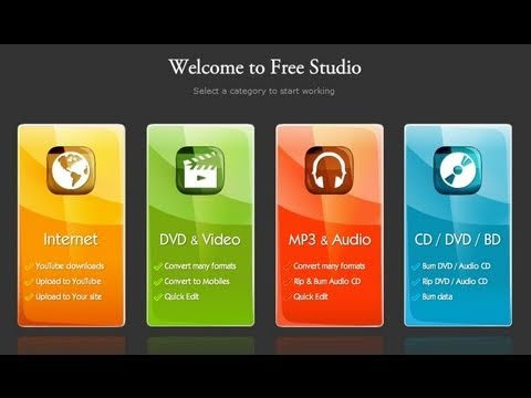 Converting All Video Files/Free Screen Recorder (DVDVideoSoft Free Studio)