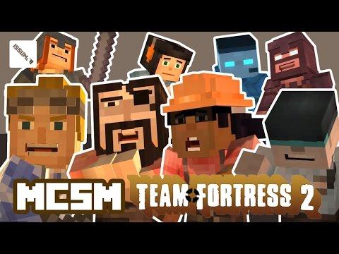 MCSM TF2 MANN vs MACHINE! Team Fortress 2 Theme Minecraft Story Mode