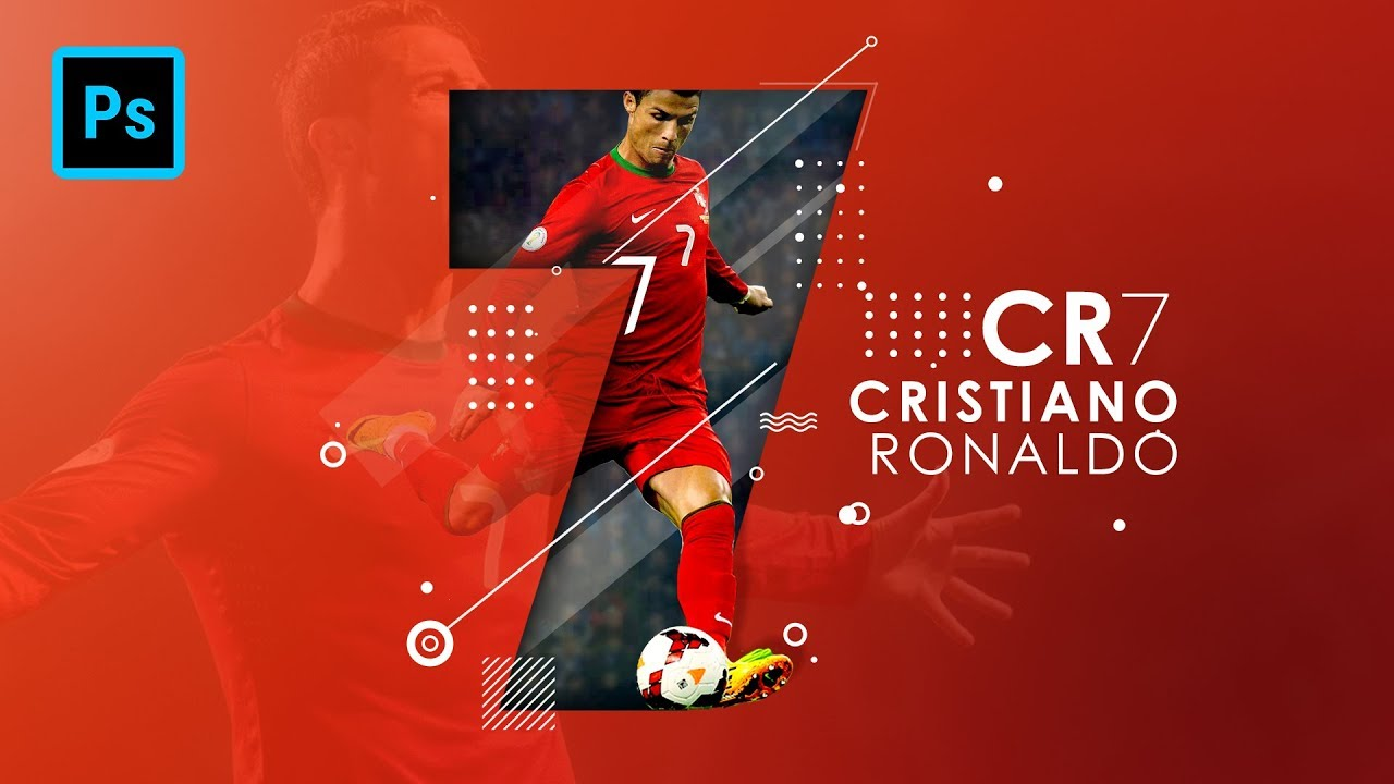 how to create epic poster design for cristiano ronaldo photoshop tutorial youtube. Black Bedroom Furniture Sets. Home Design Ideas