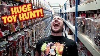 HUGE TOY HUNT!!! WWE Mattel Wrestling Figure Warehouse Tour!!! #98