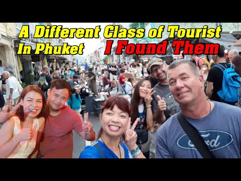 A Different Class Of Tourist In Thailand. Old Town Phuket. ภูเก็ต