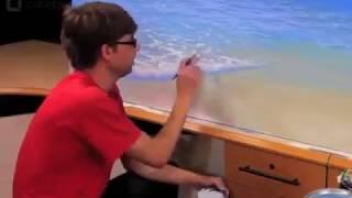 Lukisan ombak laut yang luar biasa