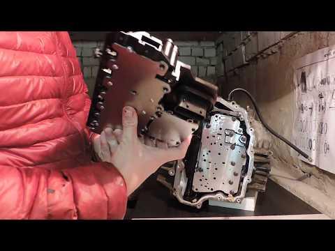 Установка гидроблока (блока клапанов) 6T40