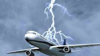 AMAZING Lightning strike caught on camera   Lightning strikes plane in the world