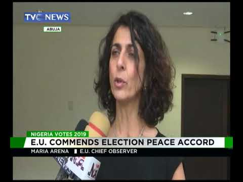 EU commends Election peace Accord