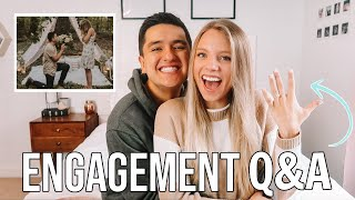 ENGAGEMENT Q&A!! engaged at 20! wedding date, was I surprised, moving, + more!!!