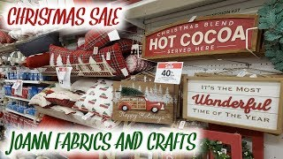 NEW JOANN FABRICS AND CRAFTS CHRISTMAS DECOR 2019 | 4K | SHOP WITH ME
