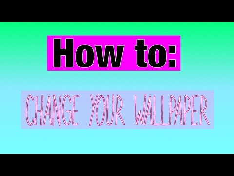 how you can change your wallpaper youtube