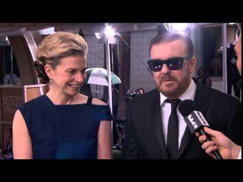 Jane Fallon & Ricky Gervais  Golden Globe Awards 2015