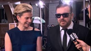 Jane Fallon & Ricky Gervais - Golden Globe Awards 2015
